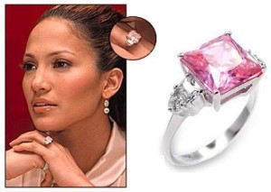 Jennifer Lopez Ben Affleck Pink Diamond Engagement Ring