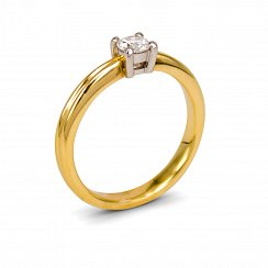 0.26ct Round Solitaire Diamond Ring
