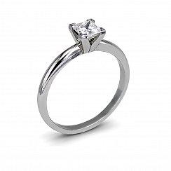 0.59ct Princess Cut Diamond Ring