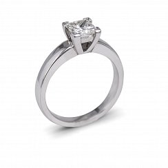 1ct Princess Cut Solitaire