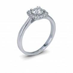 Round Halo Diamond Ring with 0.645ct Total Diamond Weight