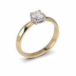 0.45ct Yellow & White Solitaire