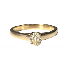 0.35ct Yellow Oval Solitaire